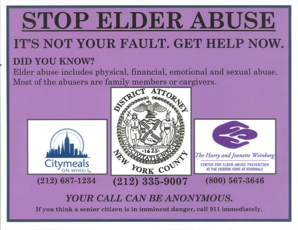 DA VANCE AND CITYMEALS-ON-WHEELS PARTNER ON THANKSGIVING TO RAISE AWARENESS ABOUT ELDER ABUSE PREVENTION