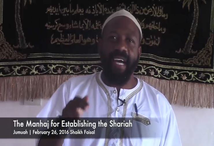 RADICAL CLERIC SHAIKH FAISAL INDICTED FOR RECRUITING SUPPORTERS AND FACILITATING EFFORTS TO JOIN ISLAMIC STATE