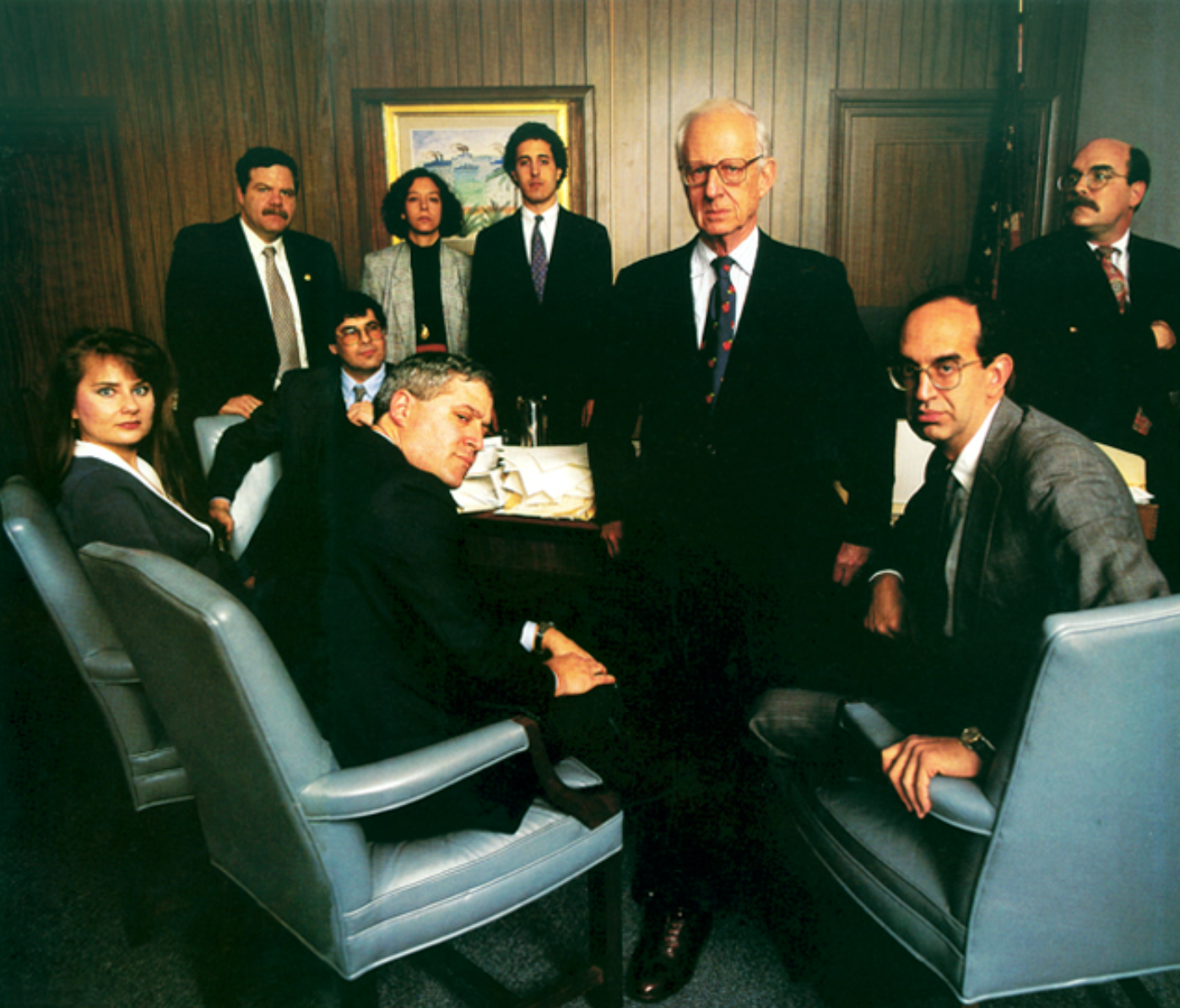 Morgenthau with staff